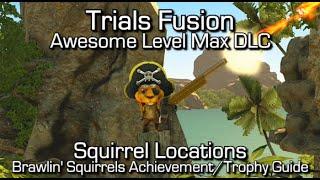 Trials Fusion - Squirrel Locations - Awesome Level Max DLC - Brawlin