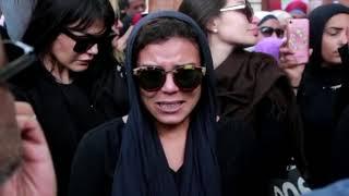 انهيار ناهد السباعي بجنازة الفنان هيثم أحمد زكي