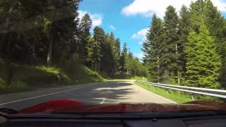 preview picture of video 'B500 Schwarzwald Hochstrasse, Germany, Black Forest, Ferrari California'
