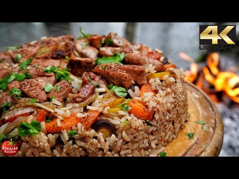 Best Pilaf Ever – Forest Cooking 4K