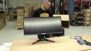 Acer Predator Z35 Ultrawide Gaming monitor unboxing