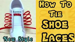 How to tie shoe laces | Different Style | fast