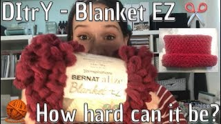 Blanket EZ loop knitting without needles or hooks - DItrY
