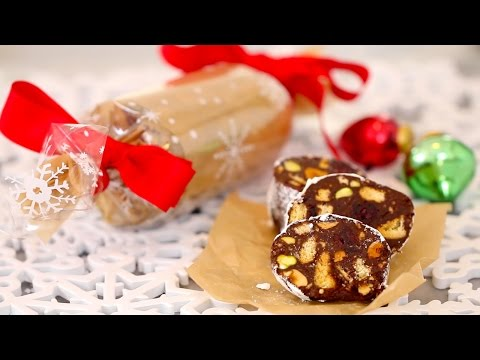 Chocolate Biscuit Cake/Chocolate Salami (No-Bake): Edible Gifts – Gemma's Bigger Bolder Baking