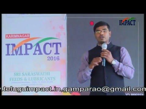 Interview KVN Karthik TELUGU IMPACT Karimnagar 2016
