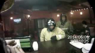 Пожарные в суши баре г. Омск 2014