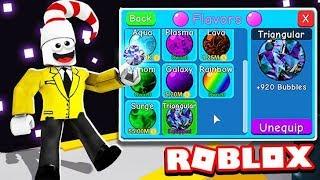 BUYING THE RAREST TRIANGULAR FLAVOR (Roblox Bubble Gum Simulator)