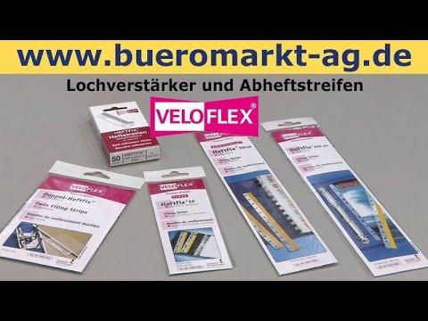 Veloflex Heftfix Abheftstreifen und Velofix Lochverstärker