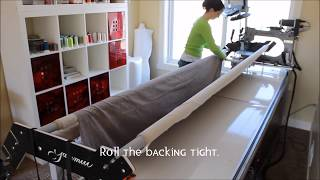 How To: Load A Quilt On A Long-Arm Quilting Machine