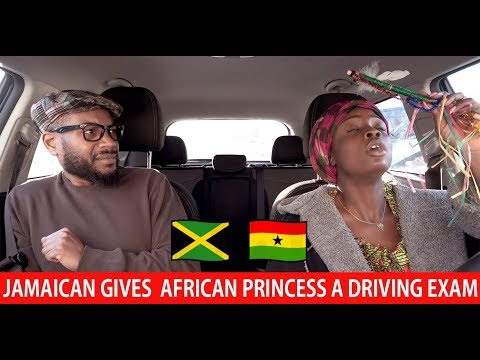 Jamaican Gives  African Princess A Driving Exam