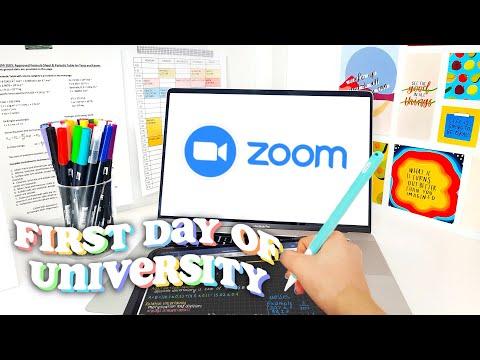 First Day of Zoom University | Study Vlog!