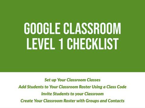 Google Certified Educator Level 1 Google Classroom Skill Checklist ...