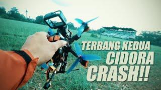 TERBANG KEDUA PAKAI 5 INCH DRONE FPV   CRASH!!!