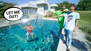 I Trapped My Girlfriend in a GIANT BUBBLE for 24 HOURS!