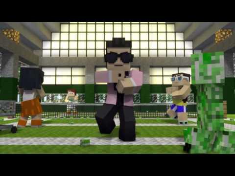 Minecraft пародия Oppa gangnam style