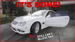 the CHEAPEST Mercedes SL550 Project is FINISHED!!!