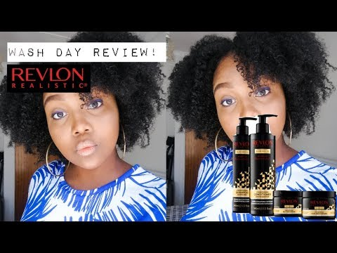Revlon Realistic Black Seed Oil Natural Hair Products (Demo
