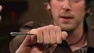 Banachek bending Silverware on Unscrewed