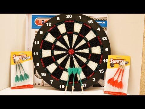 Kids Dart Board Set w/ Safety Darts