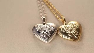 Heart Locket Necklace Women Jewelry For Love Gift