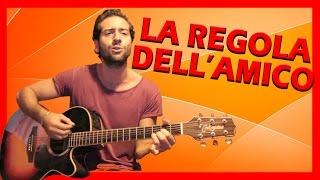 """Tutorial Chitarra ➔ """"La Regola Dell'Amico"""" - 883 [Accordi Facili ITA]"""