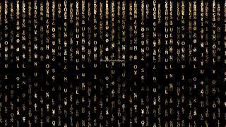 Golden Matrix rain code effects | Golden particles motion Background | Golden Party backgrounds loop