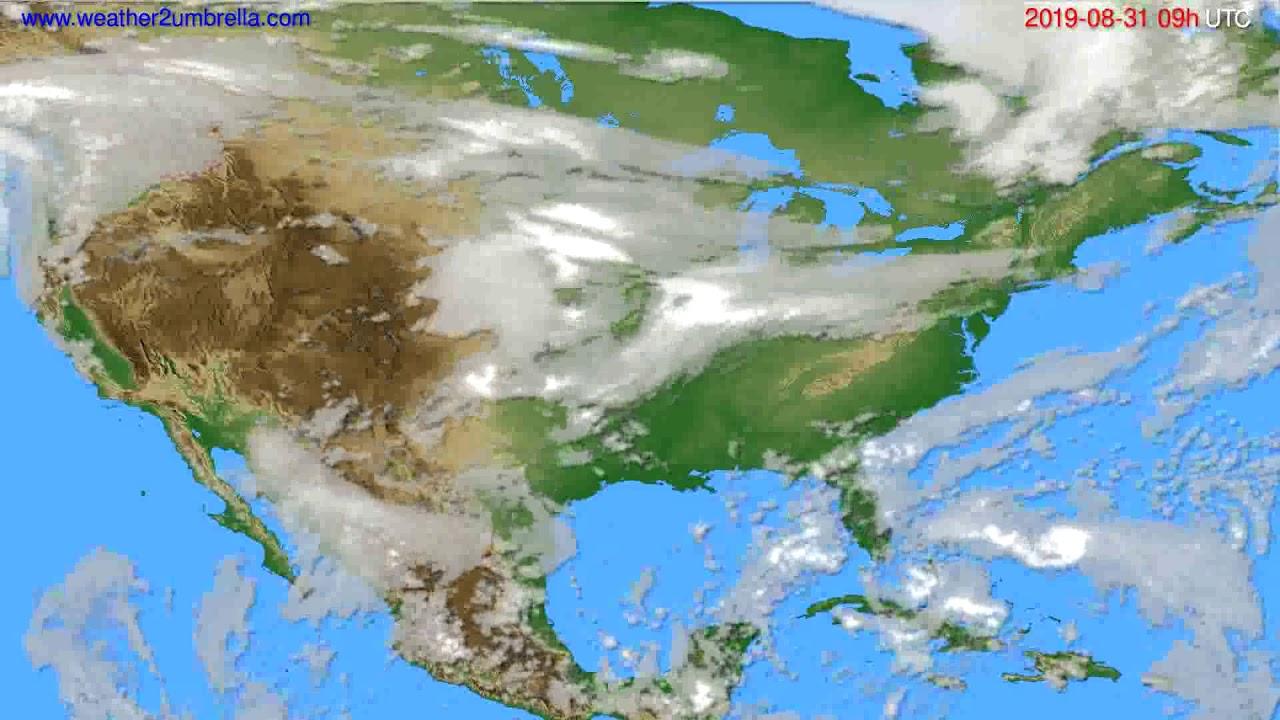 Cloud forecast USA & Canada // modelrun: 12h UTC 2019-08-29