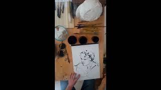 Vidéo comment tailler un bambou, pour dessiner avec