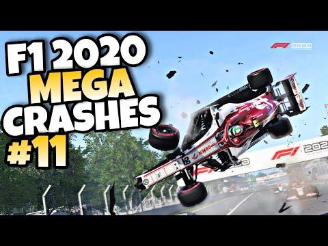 F1 2020 MEGA CRASHES #11