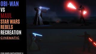 ObiWan VS Darth Maul  Star Wars Rebels Recreation