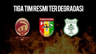 3 Tim yang Terdegradasi ke Liga 2, Dua Klub Berasal dari Pulau Sumatera