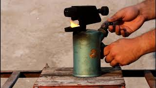 """Just an old tool: vintage east-german gasoline blowtorch. """"Bat"""" brand"""