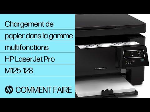 Chargement de papier dans une imprimante multifonction de la gamme HP LaserJet Pro M125-128