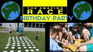 DIY AMAZING RACE birthday party