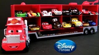 8-Cars Talking Mack Truck Hauler Cars 2 World Grand Prix 4 Pit Crew Chiefs 4 Racers 2013 Disney toys