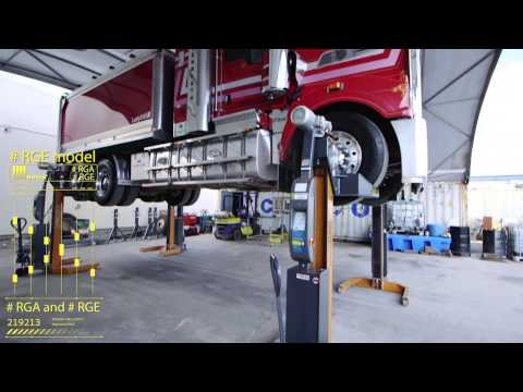 Truck & Bus lifting, Mobile Wireless hoist - Airdraulics
