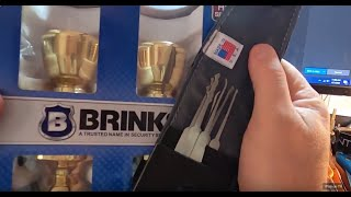 NEW PICKING TOOLS & PICKING BRINKS EXTERIOR DOOR LOCK OUT THE BOX