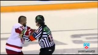 Бой КХЛ: Е.Редлихс VS Тимкин / KHL Fight: J.Redlihs VS Timkin