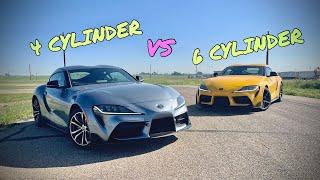 Toyota Supra 4 Cylinder vs 6 Cylinder   Track Comparison