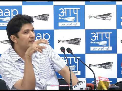AAP Chief Spokesperson briefs on Tree Felling by NBCC, Expose on Central Govt Departments