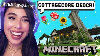 Decorating A Cottagecore Bakery in Minecraft Shady Oaks SMP! by iHasCupquake