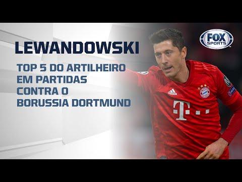 LEWANDOWSKI, REI DOS CLÁSSICOS!; Top 5 do artilheiro em partidas contra o Borussia Dortmund