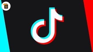 Illustrator Blend Modes Are AWESOME - TIK TOK LOGO