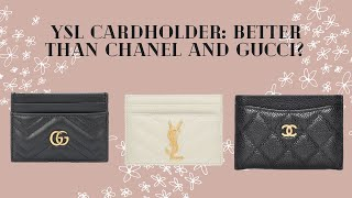 YSL Cardholder First Impression, Review, & Comparison To Chanel/Gucci | Luxury Review
