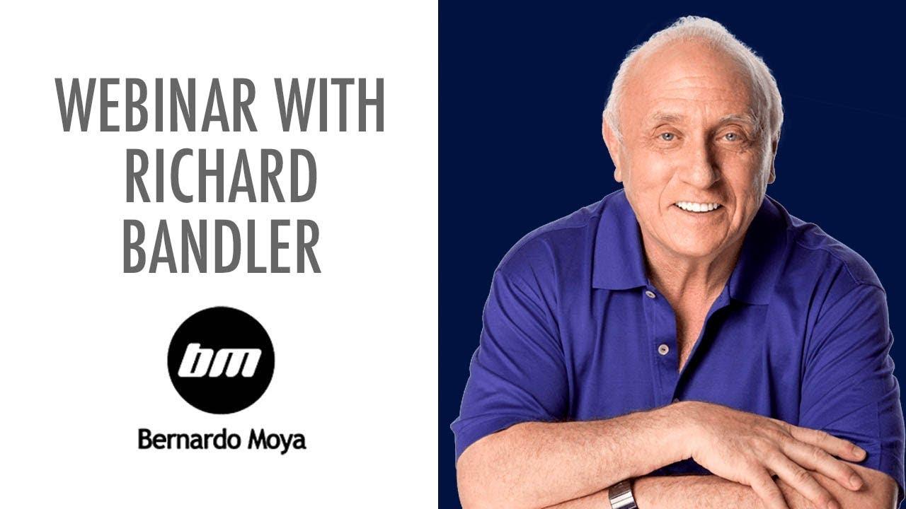 Richard Bandler, cocreador de la PNL, habla con Bernardo Moya; grabación del EN VIVO del 12 septiembre 2019