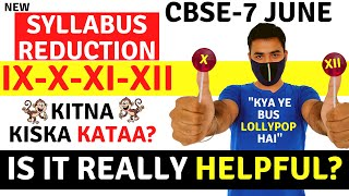 CBSE LATEST SYLLABUS REDUCTION || CLASS 10 &12 || 9TH & 11TH || DETAILED ANALYSIS