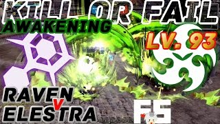 Dragon Nest PvP : Raven v Elestra Awakening KOF Lv. 93 KDN Spec Mode