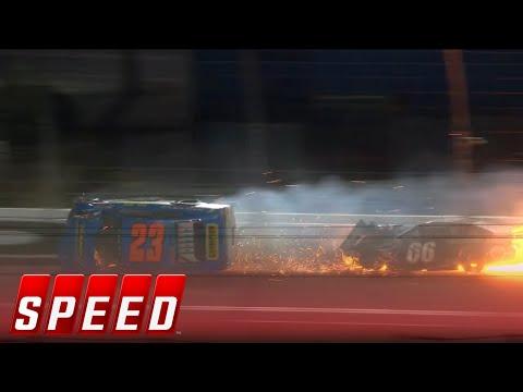 Bret Holmes ends up on his side after vicious wreck in Daytona I 2018 ARCA RACING SERIES