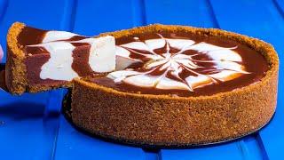 Nur 4 Zutaten, um einen wunderbaren Käsekuchen ohne Backen zuzubereiten!| Schmackhaft.tv