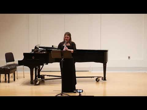 Bach-Partita in A minor. Performed by clarinetist Ana N. at the IU Jacobs School of Music, Master's Degree Recital 2019.